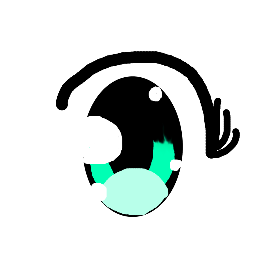 Kawaii eye png. First try at drawing