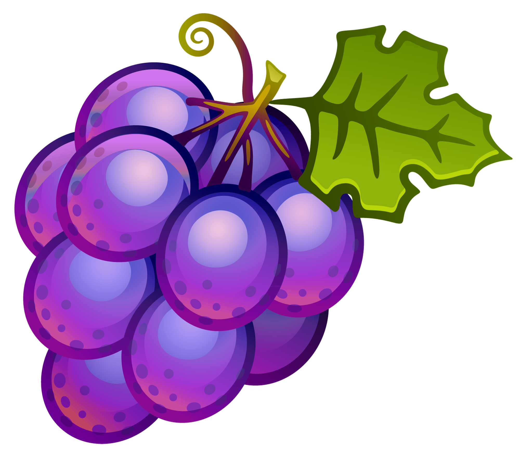 Kawaii grape png. Collection of clipart