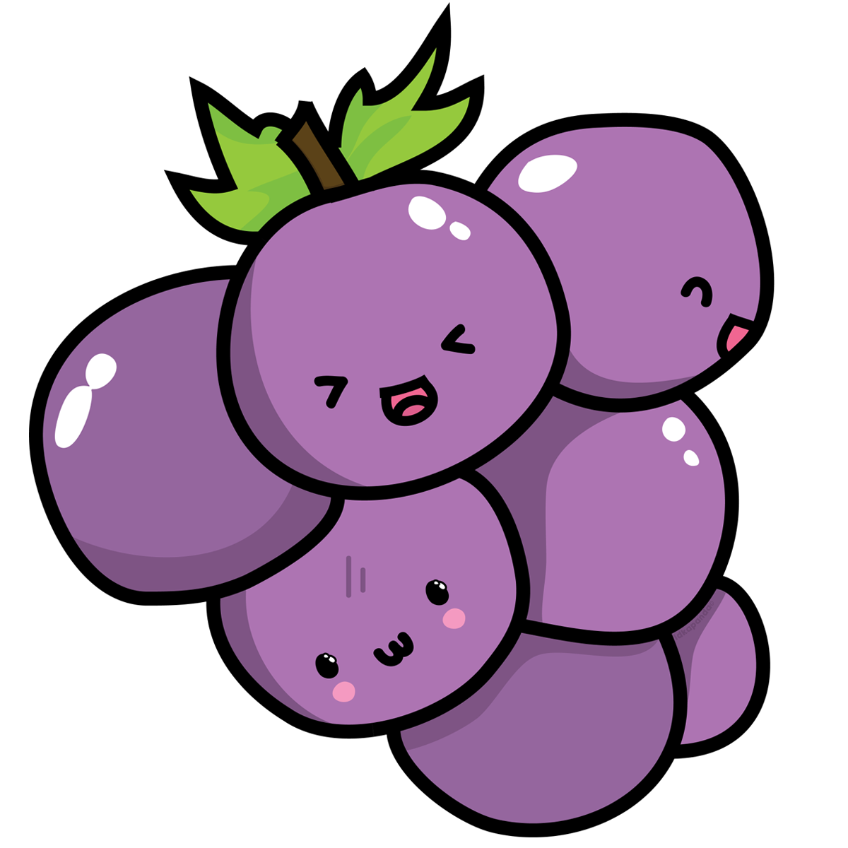 Kawaii grape png. Grapes clipart free on
