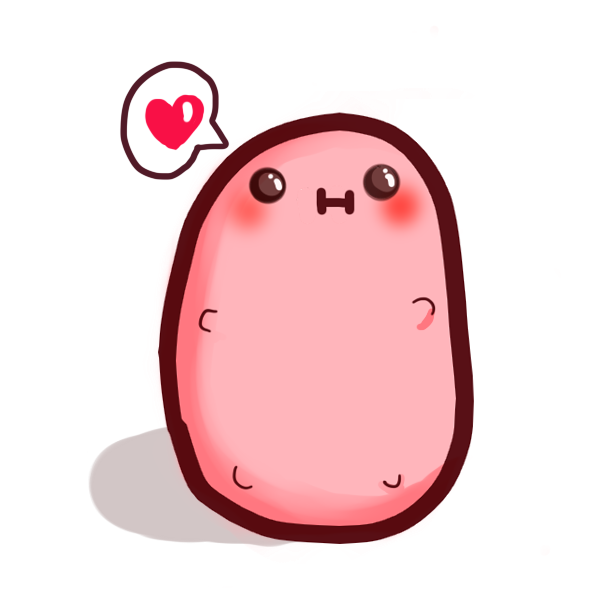 Kawaii potato png. Mascot by lolitpop on