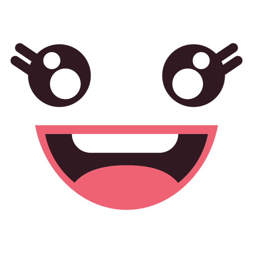 Mouth svg happy. Kawaii female emoticon face