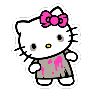 Kawaii stickers png. Bloody kitty