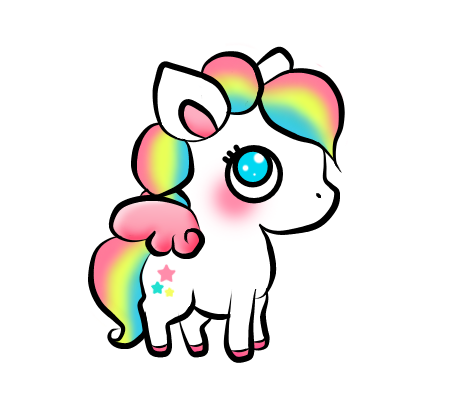 Stickers transparent unicorn. Sticker cute colors kawaii
