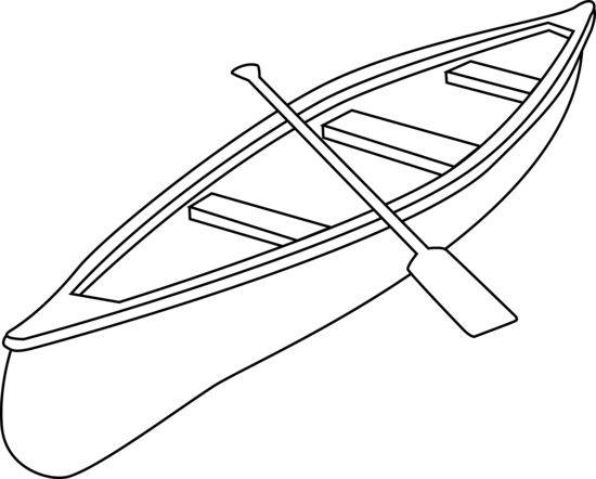 Raft drawing stick. Canoe clipart by jzielinski