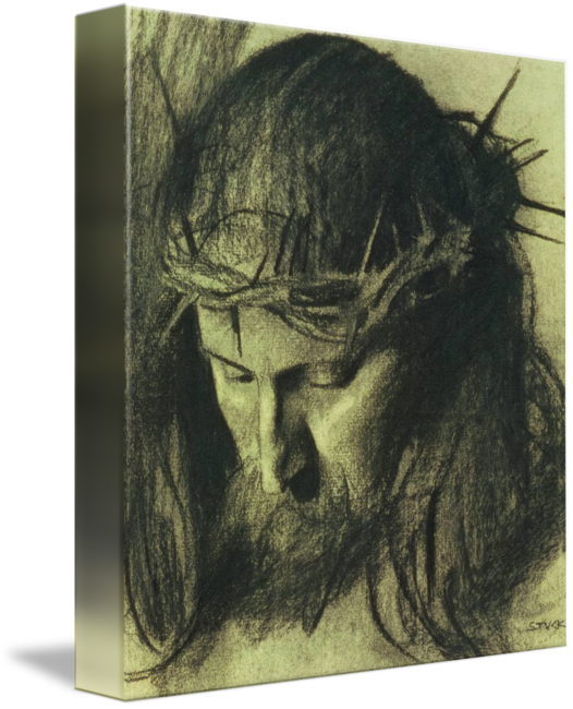 Kd drawing charcoal. Head of christ c