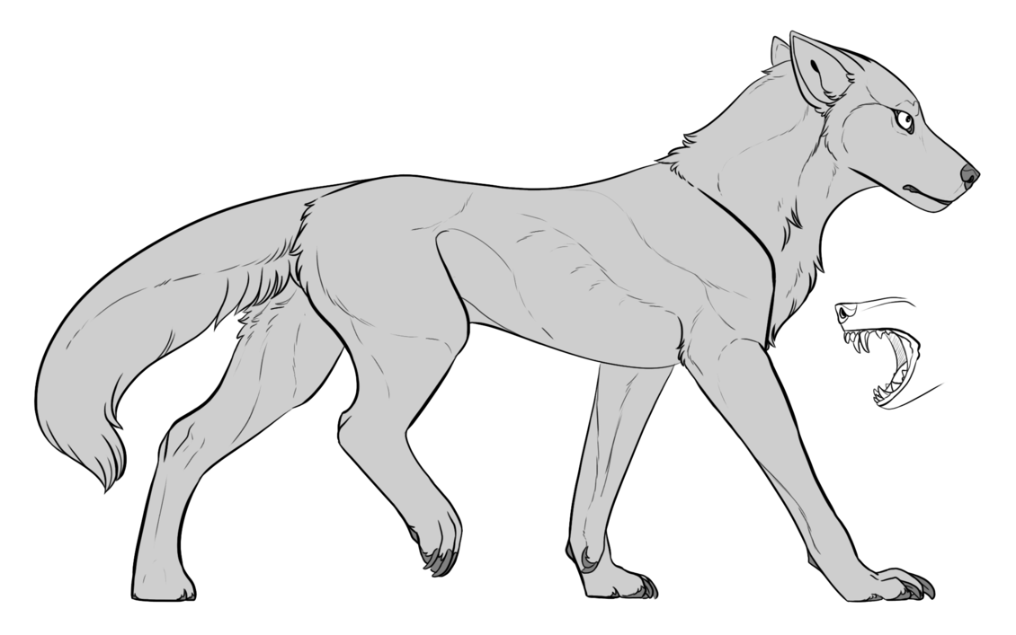 Transparent base wolf. F u by viisrah