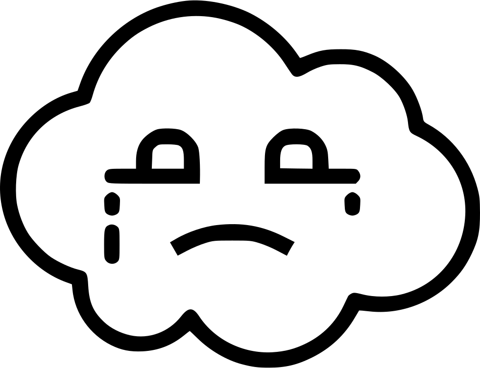Kd drawing face. Cloud blue crying svg