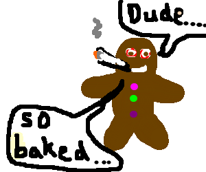 Kd drawing gingerbread man. Is high by rabblescabble