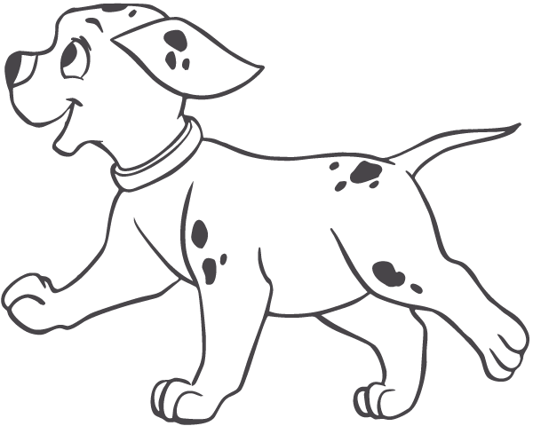 Pastry drawing puppy. Dalmatian dog clip art