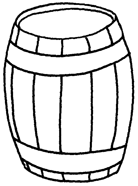 Keg drawing clipart black and white. Station