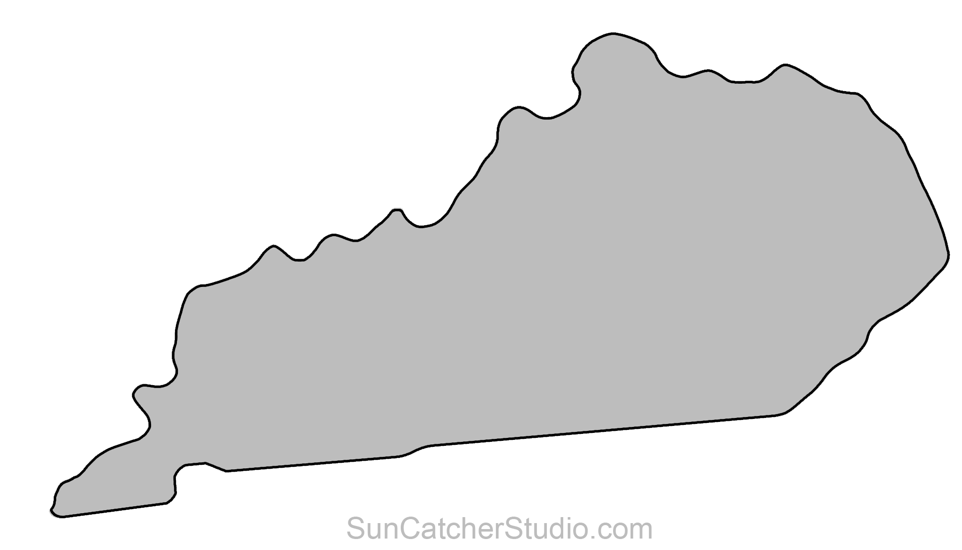 Kentucky outline png. Map printable state shape