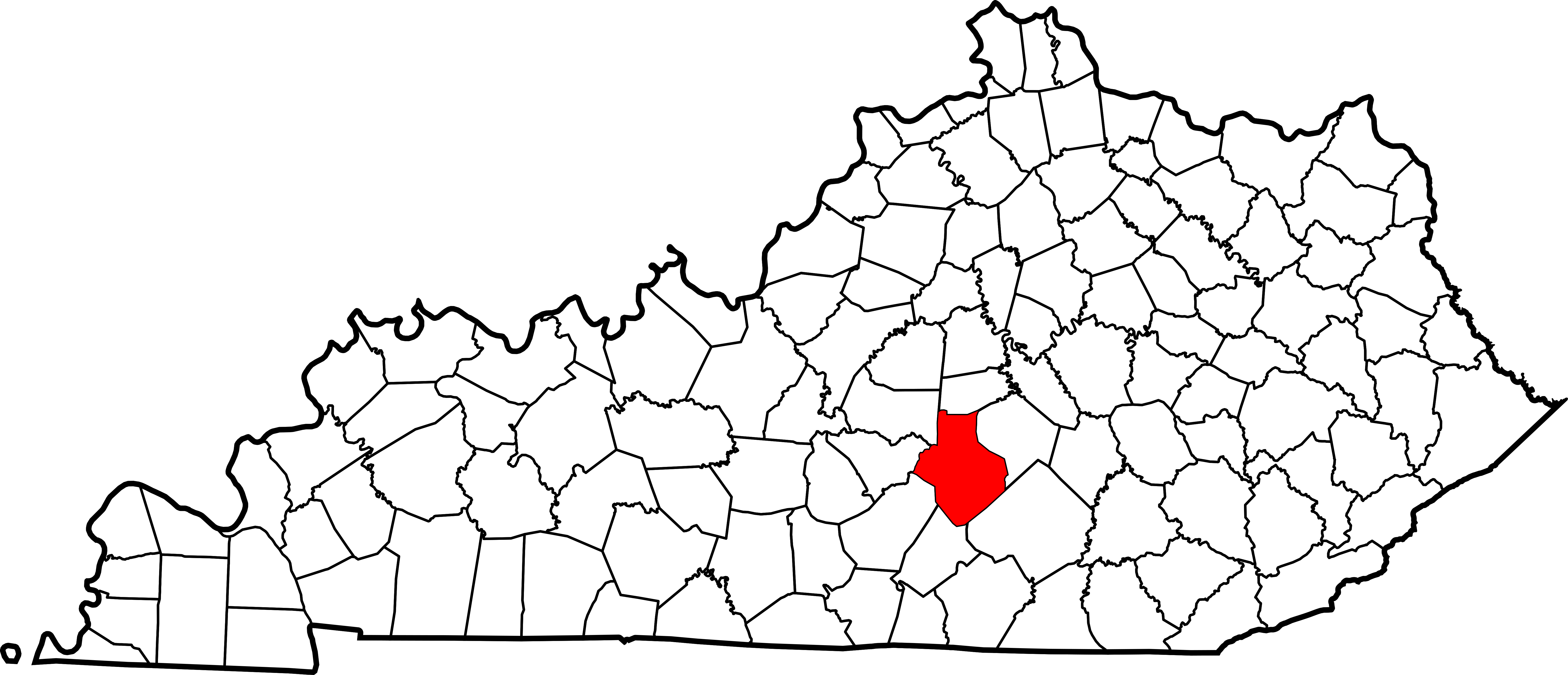 Kentucky outline png. File map of highlighting