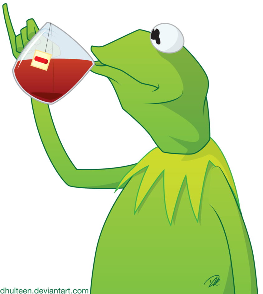 Tea exploitable by dhulteen. Kermit memes png clip library stock