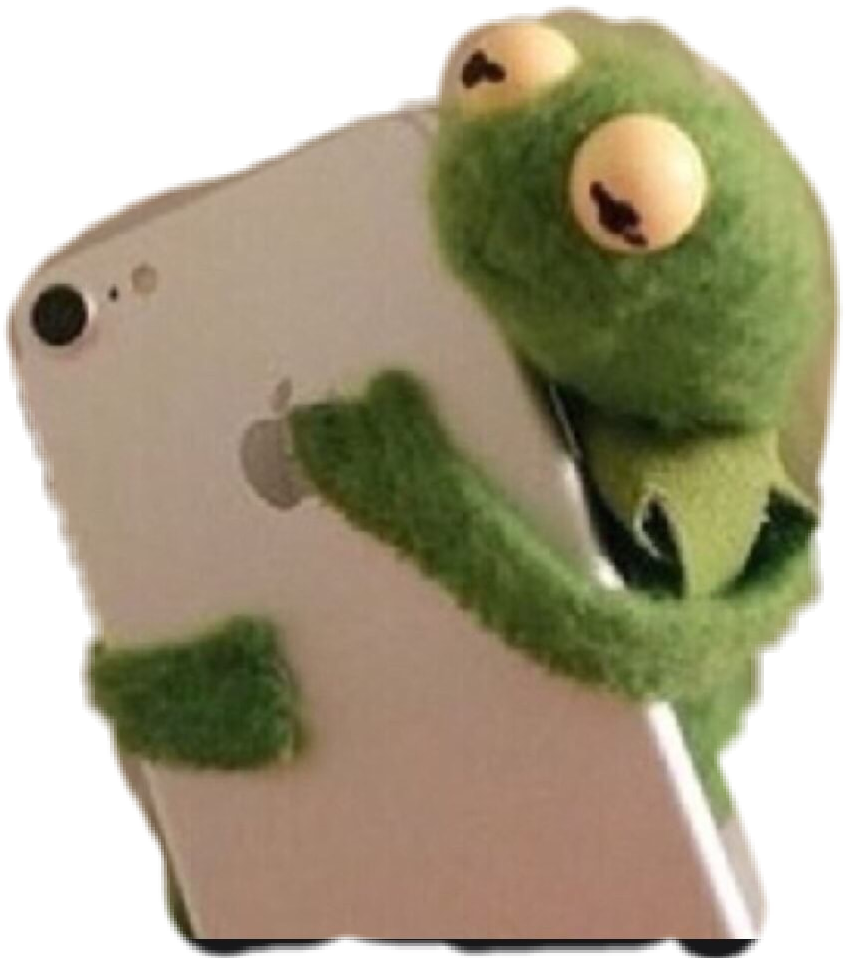Kermit meme png. Green funny hilarious cellphone