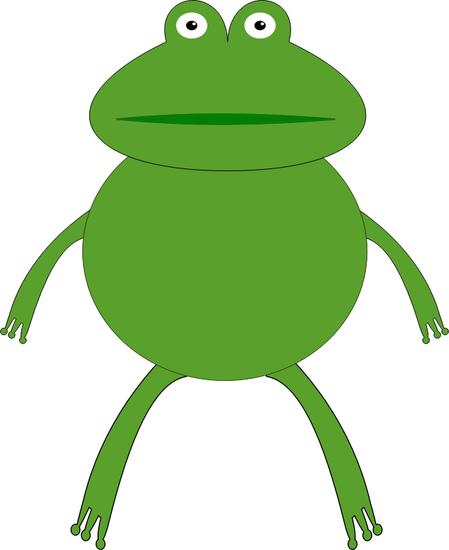 Amphibian drawing froggy. Kermit the frog clipart