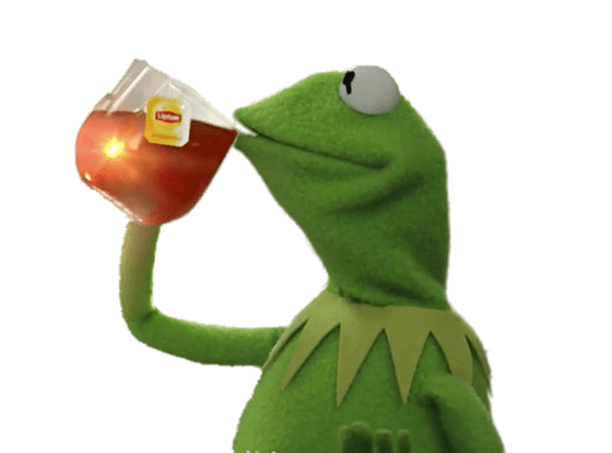 kermit drinking tea png