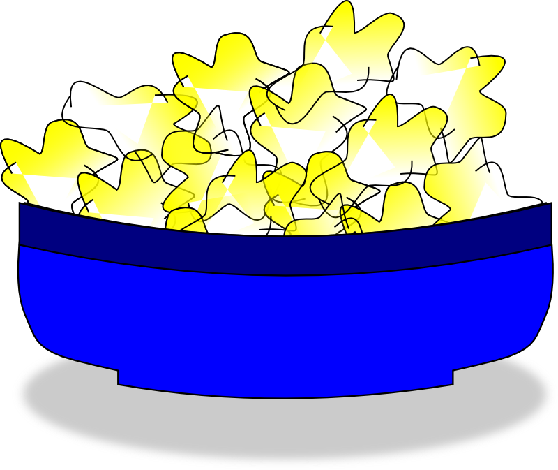 Popcorn clipart label. Bowl clip art library