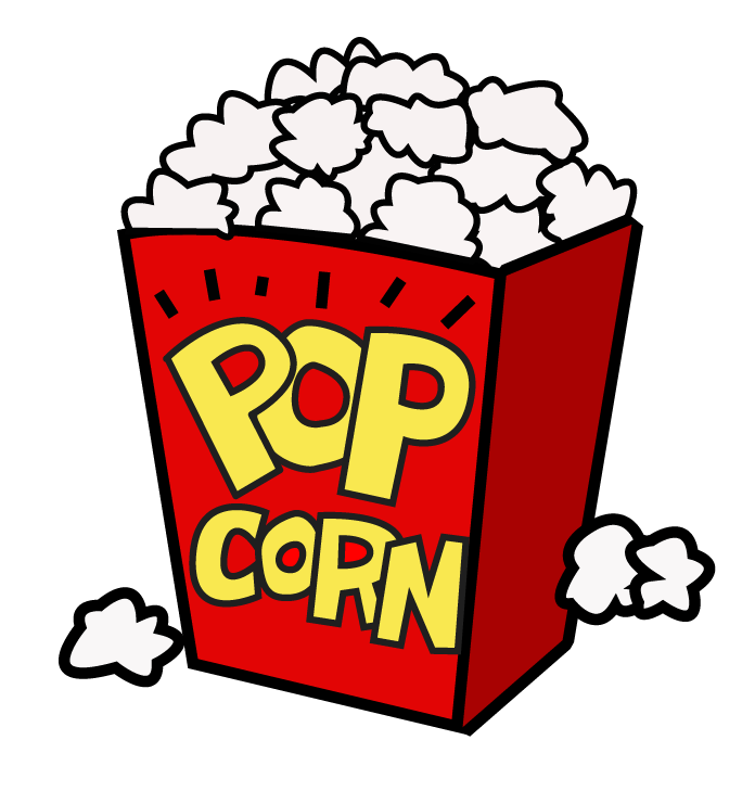 kernel clipart popcorn container