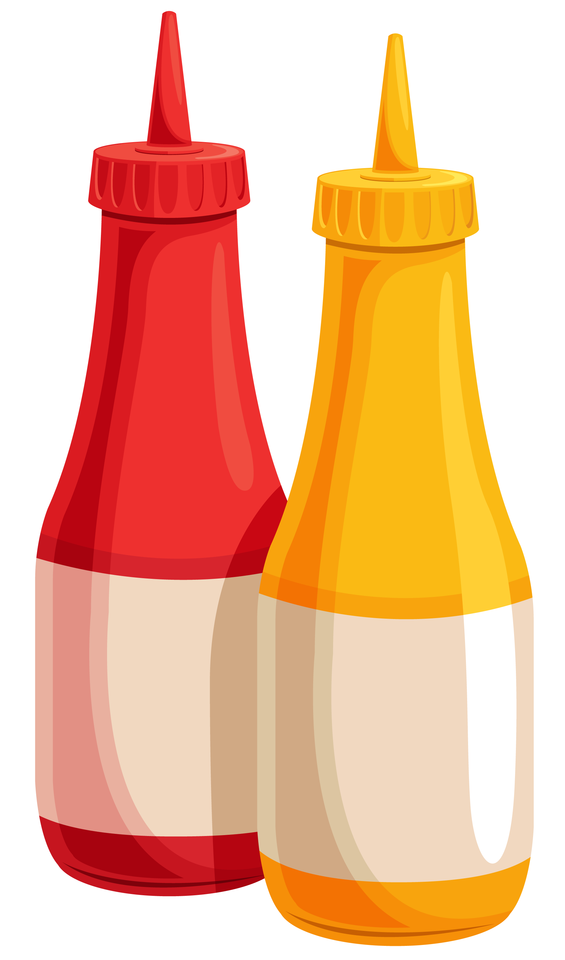 Ketchup and mustard png. Bottles clipart image gallery