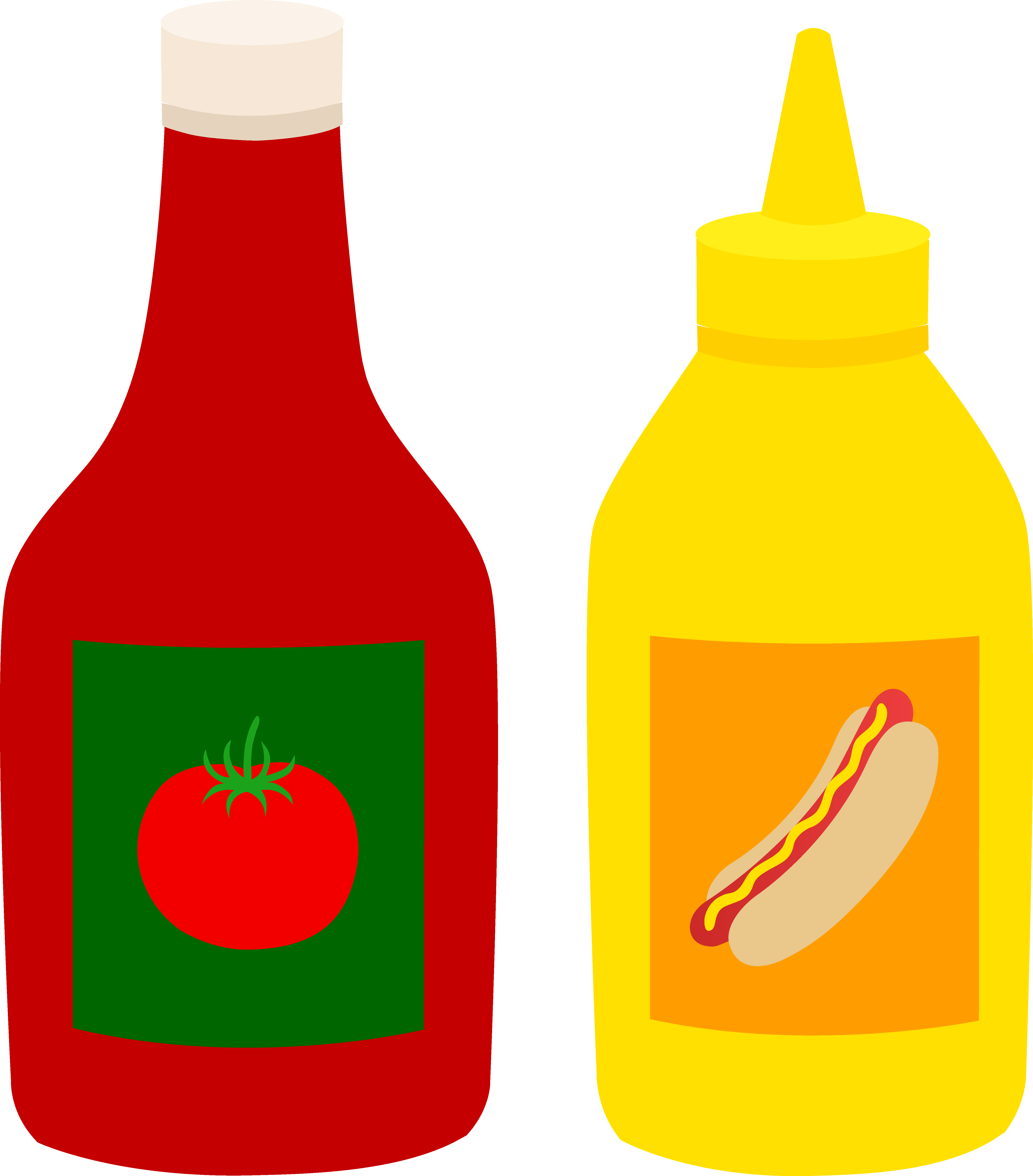 Ketchup clipart condiment. Bottles of and mustard