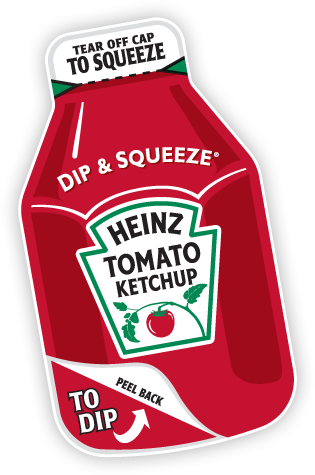 Ketchup packet png. Heinz dip squeeze