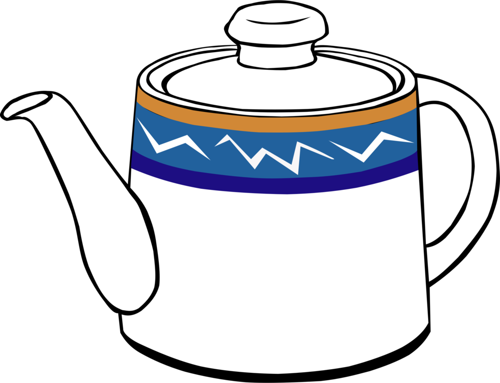 Kettle drawing tea set. Teapot download free commercial