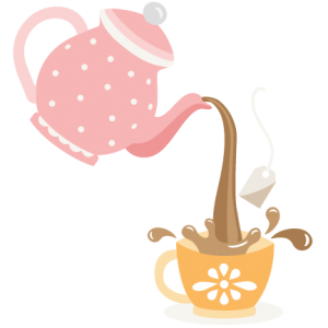 Kettle drawing cute. Pouring tea pot svg