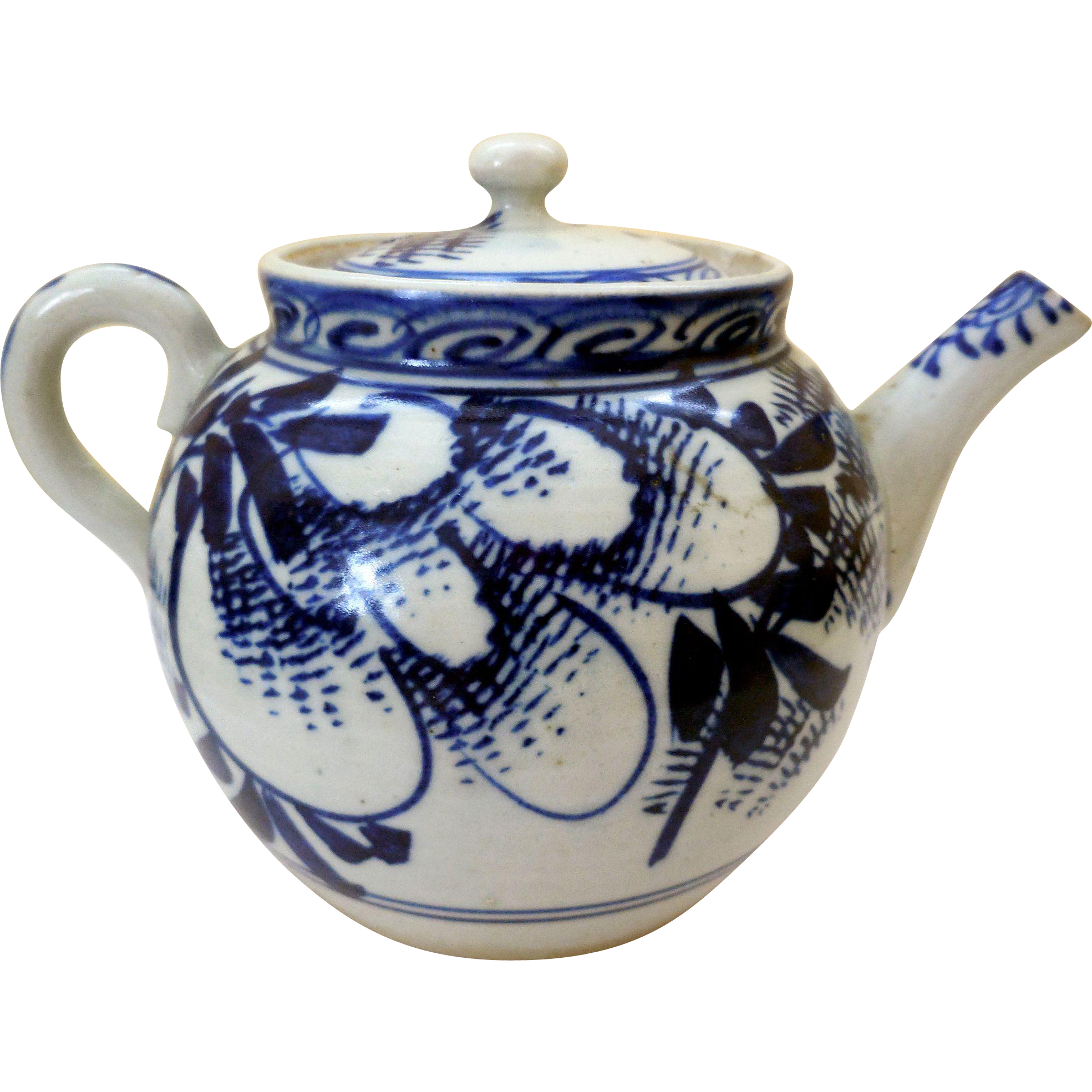 Kettle drawing vintage. Th century blue