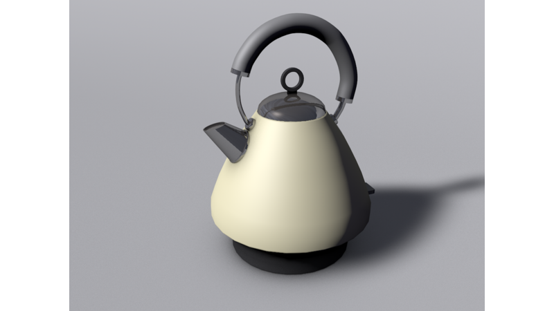 Kettle drawing industrial design. D libary data