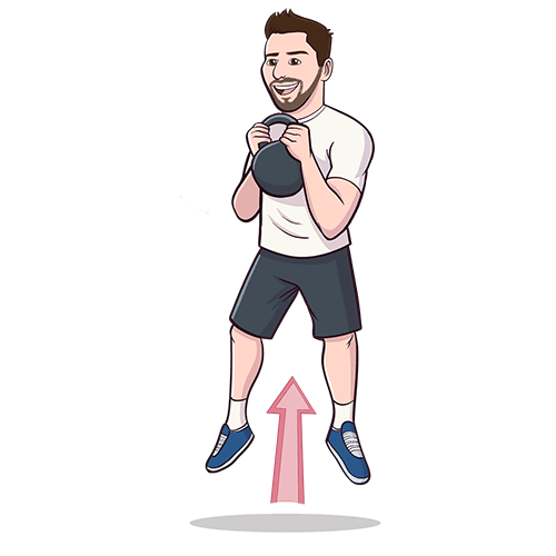 Kettlebell clipart kettlebell swing. Squat jump central an