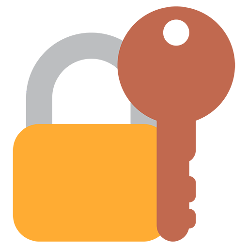Key emoji png. Closed lock with for