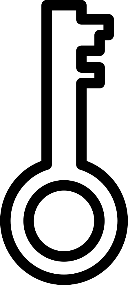 key outline png