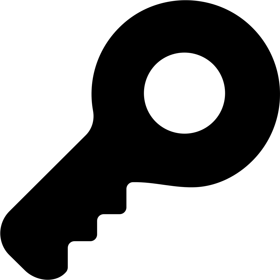 Key silhouette png. Password symbol of in