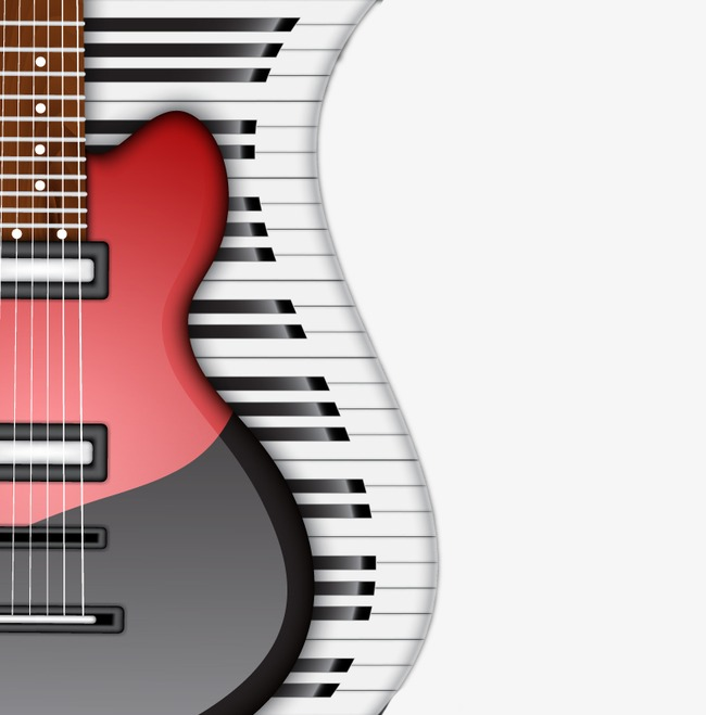 Keyboard clipart guitar piano. Fashion electric and png