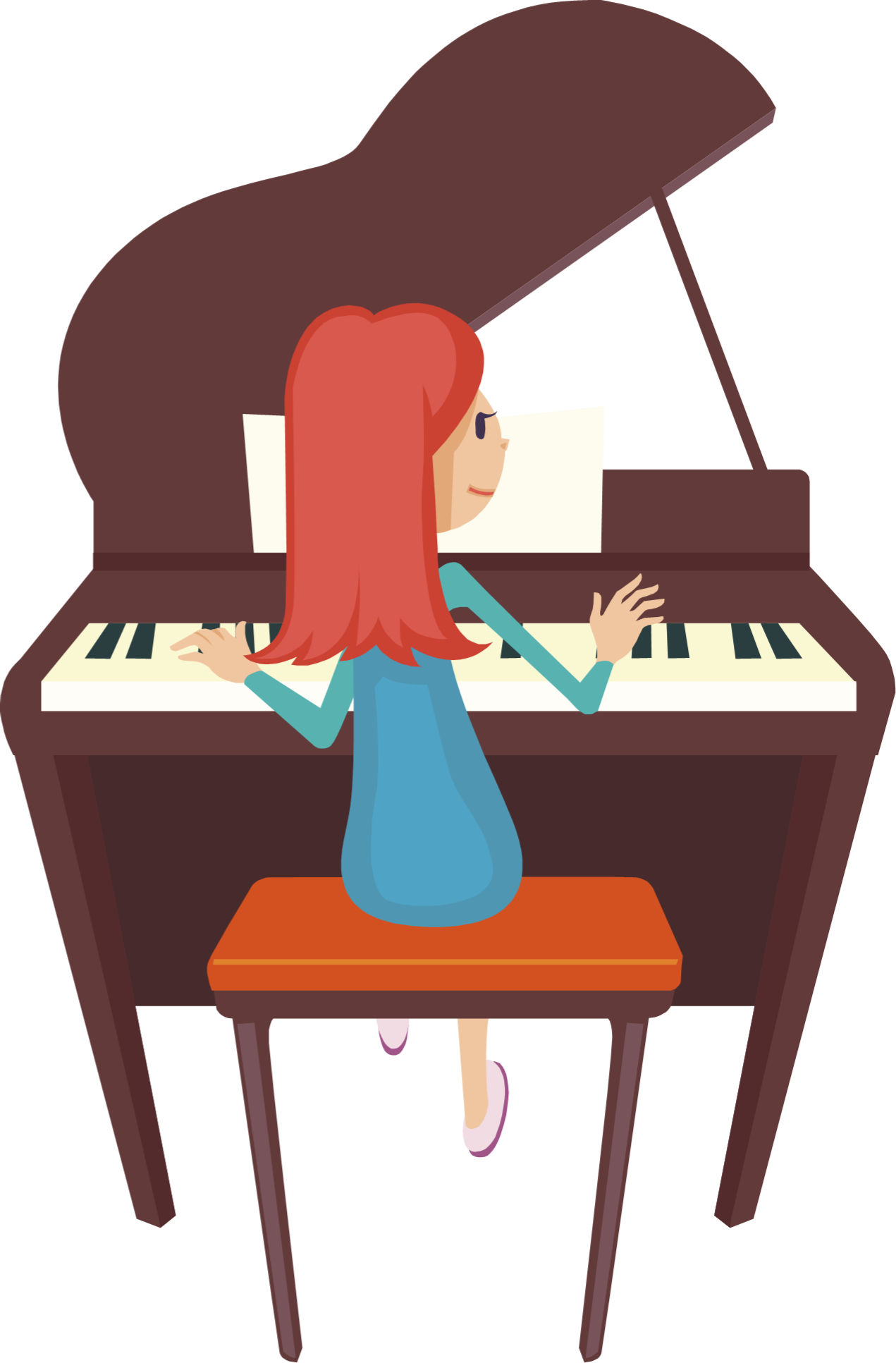 Piano clipart little girl. Free keyboard cliparts download