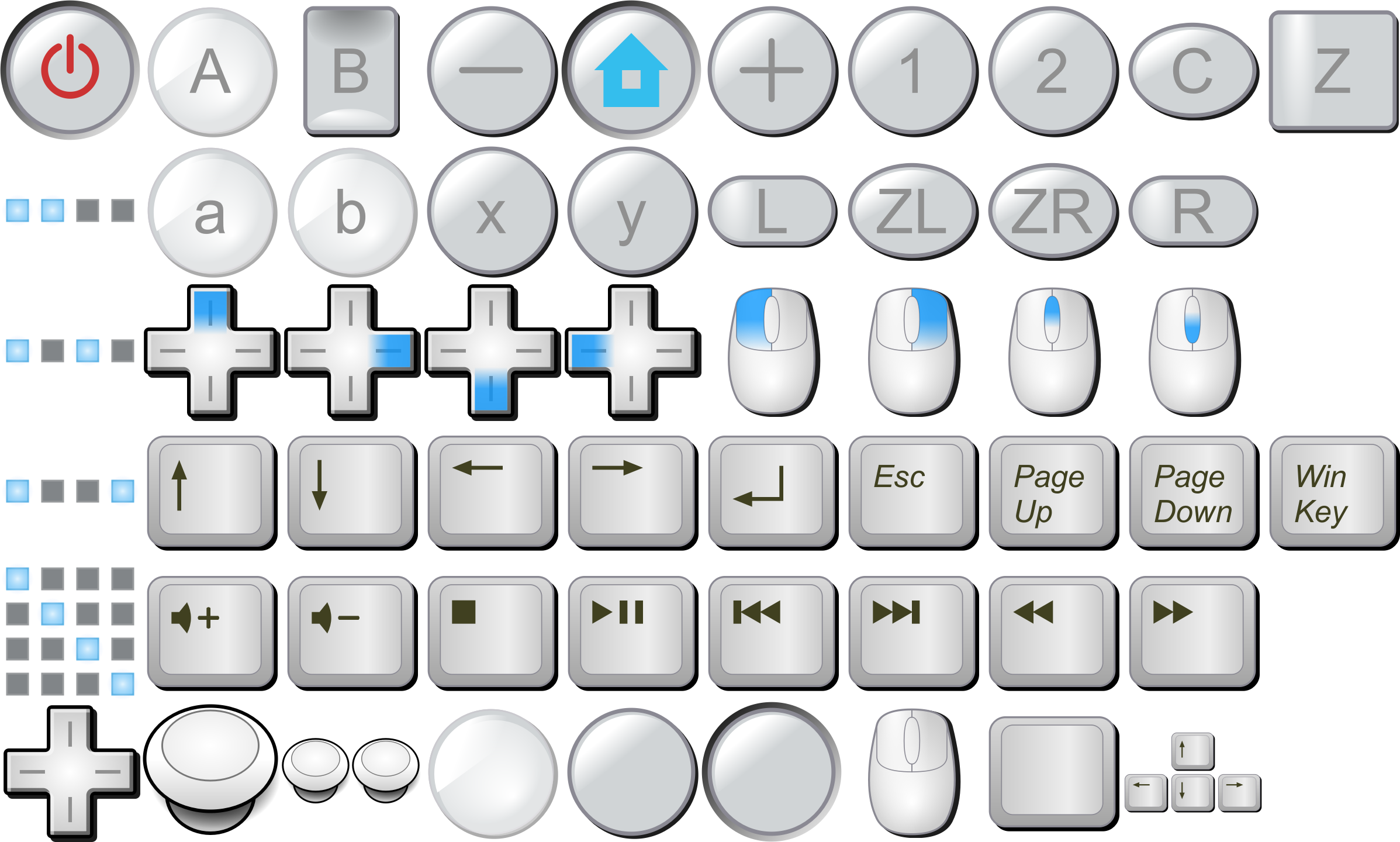 Keyboard keys png. Clipart wii buttons mouse