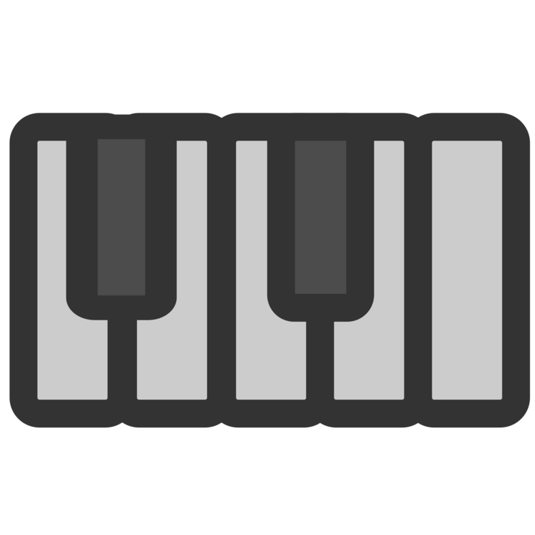 Piano clipart synthesizer. Computer icons musical keyboard