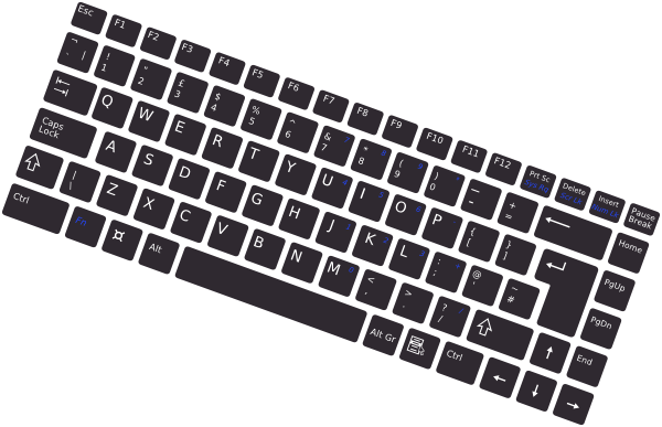 Keyboard vector png. Rotated simple clip art