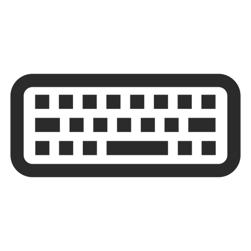 Keyboard vector png. Computer stroke icon transparent