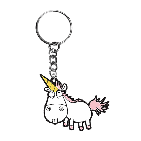 Keyring clip hipster. Despicable me unicorn zing