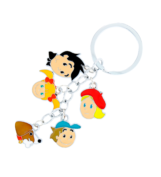 Keyring clip hipster. Charms family pylones porte
