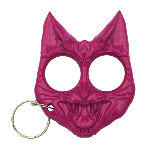 Keyring clip plastic. Self defense protection keychain