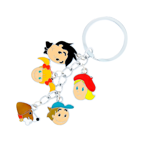 Keyring clip plastic. Charms pylones family