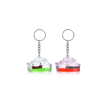Keyring clip plastic. Ship boat shape clear