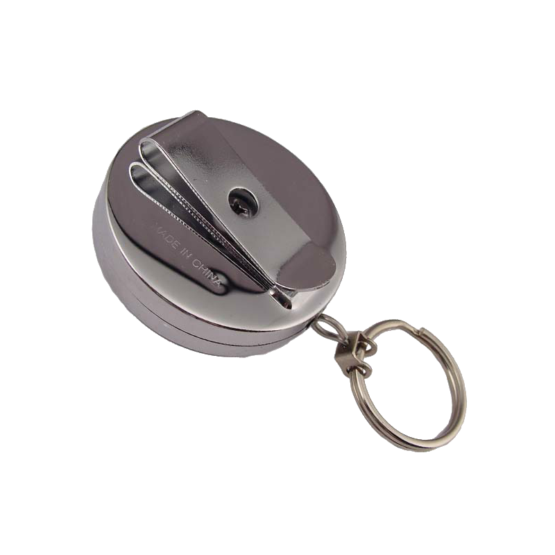 Keyring clip pocket. Rectractor chain extensible