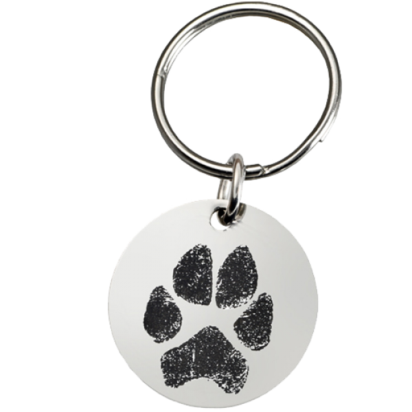 Keyring clip round. Small accessories pet print