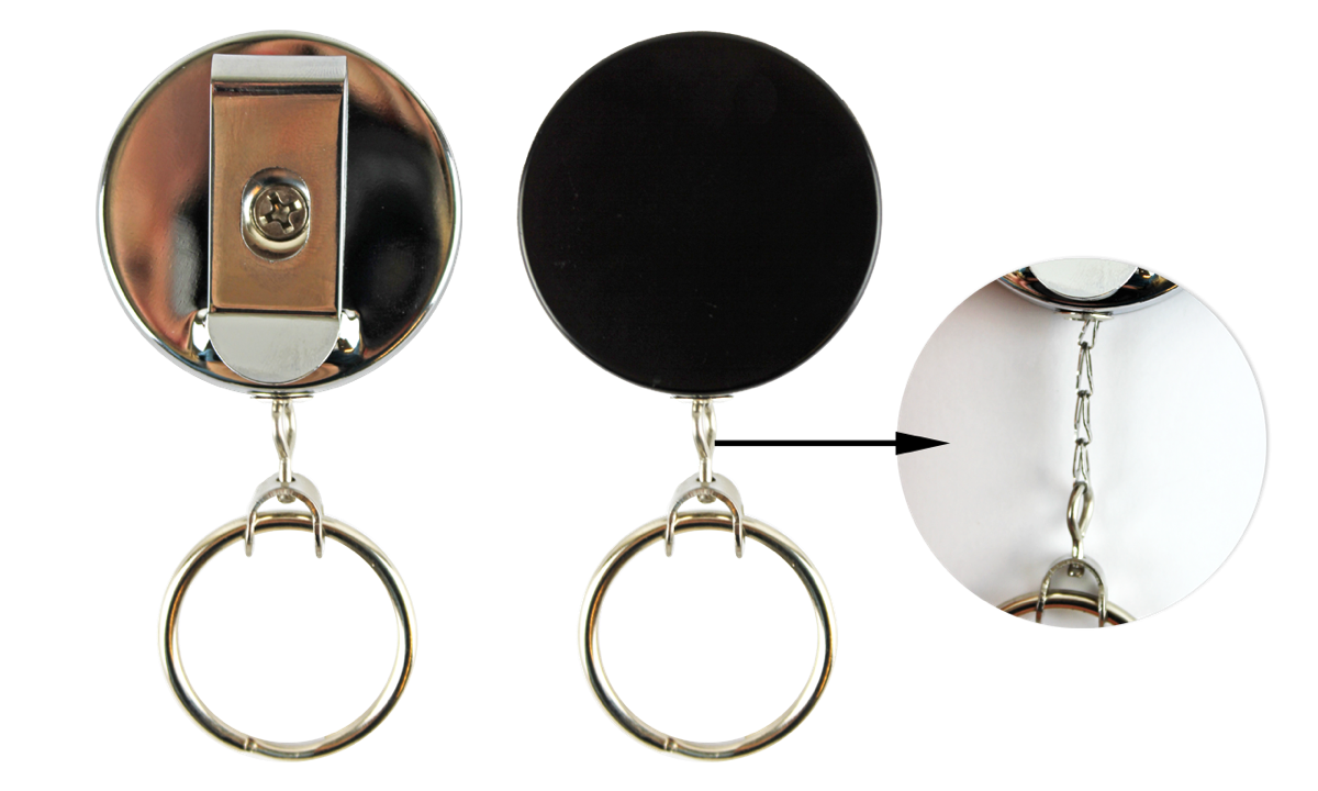 Keyring clip wire. Heavy duty badge reel