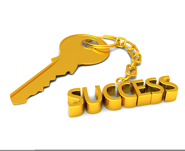 Success clipart. Free key to images