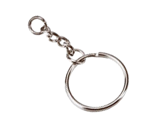 Keys on a ring png. Metal keyring engraved image