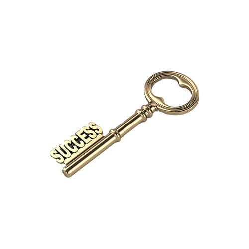 success transparent key